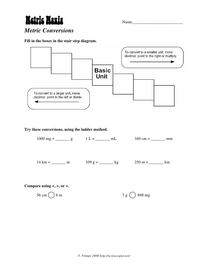 Printables Metric Conversion Worksheet Answers safarmediapps – Metric Conversion Worksheet