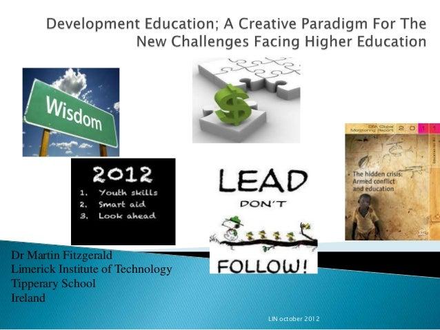 Dr Martin FitzgeraldLimerick Institute of TechnologyTipperary SchoolIreland                                   LIN october ...