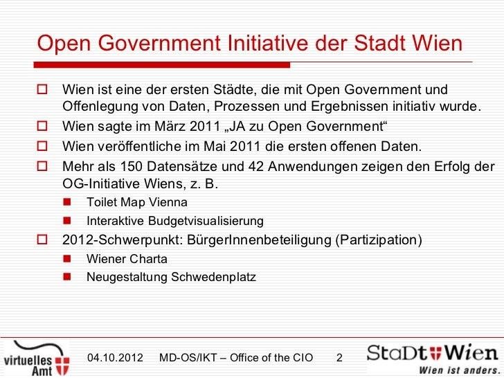 """Mittheisz, CIO Stadt Wien, """"Wien-Win-Win"""" Slide 2"""