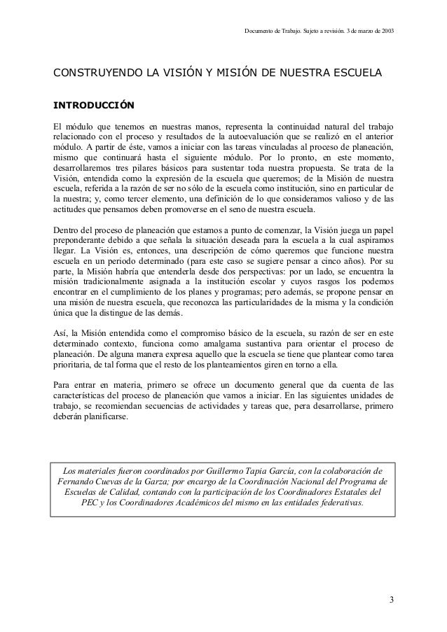 2modulovisiony misiondelaescuela[1] Slide 3