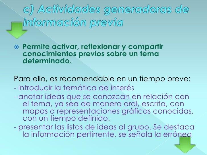 b) Discusión guiada<br />Activa los conocimientos previos en la participación interactiva en un diálogo en el que estudian...
