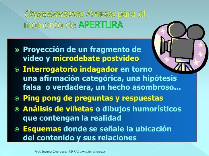 c) Actividades generadoras de información previa<br />Permite activar, reflexionar y compartir conocimientos previos sobre...