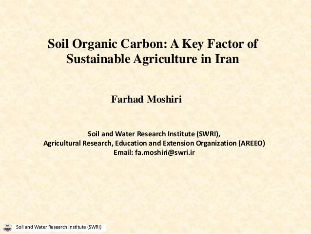 Soil organic carbon a key factor of sustainable for Soil organic carbon