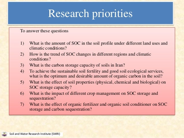 Soil organic carbon a key factor of sustainable for Soil research impact factor