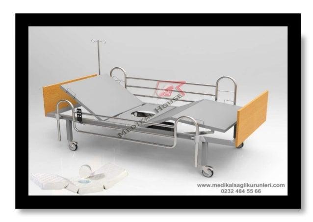2 motorlu elektrikli lazımlıklı hasta karyolası