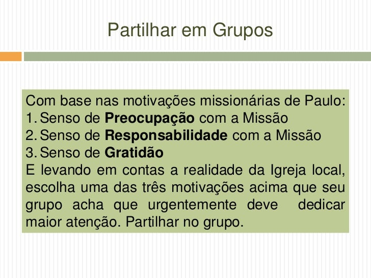 Mística Missionária - Diocese de Guarulhos Slide 26