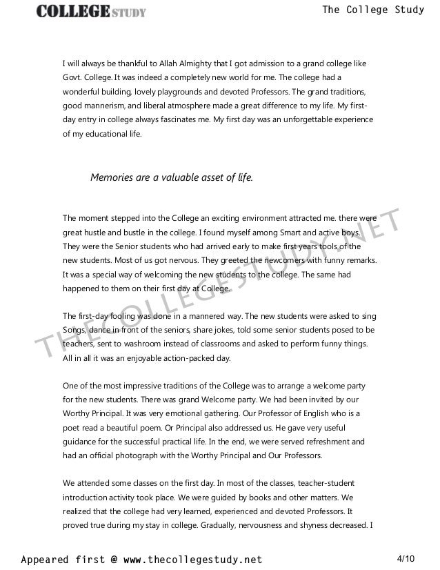 Advanced English Essays  Argument Essay Paper Outline also High School Persuasive Essay Examples  My First Day At College Short And Long Essays The College  Business Essay Sample