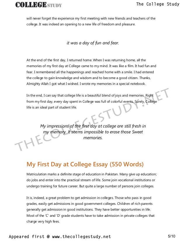 Essay With Thesis Statement  Essays Topics In English also English Essay About Environment  My First Day At College Short And Long Essays The College  Comparative Essay Thesis Statement