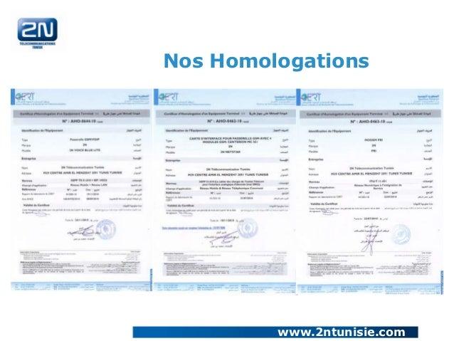 Nos Homologations         www.2ntunisie.com