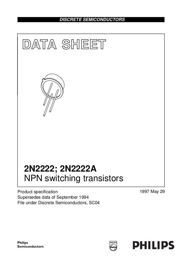 2n2222/2n222a transistor data sheet.