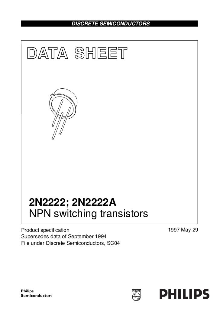 DISCRETE SEMICONDUCTORS  DATA SHEET                    M3D125   2N2222; 2N2222A   NPN switching transistorsProduct specific...