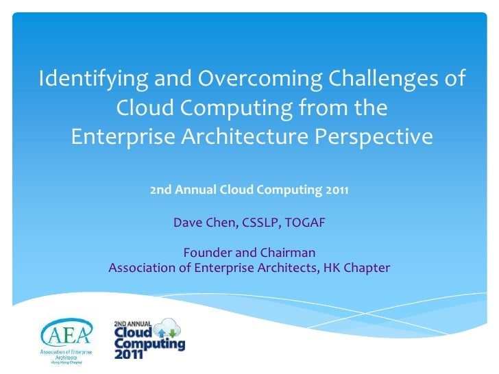 Identifying and Overcoming Challenges of        Cloud Computing from the   Enterprise Architecture Perspective            ...