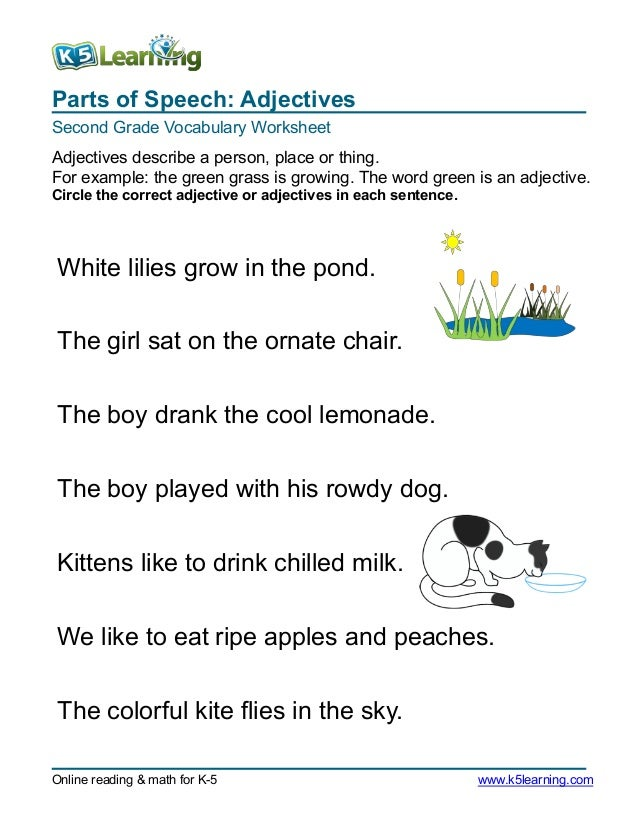 2nd gradecircleadjective3 – 2nd Grade Adjective Worksheets