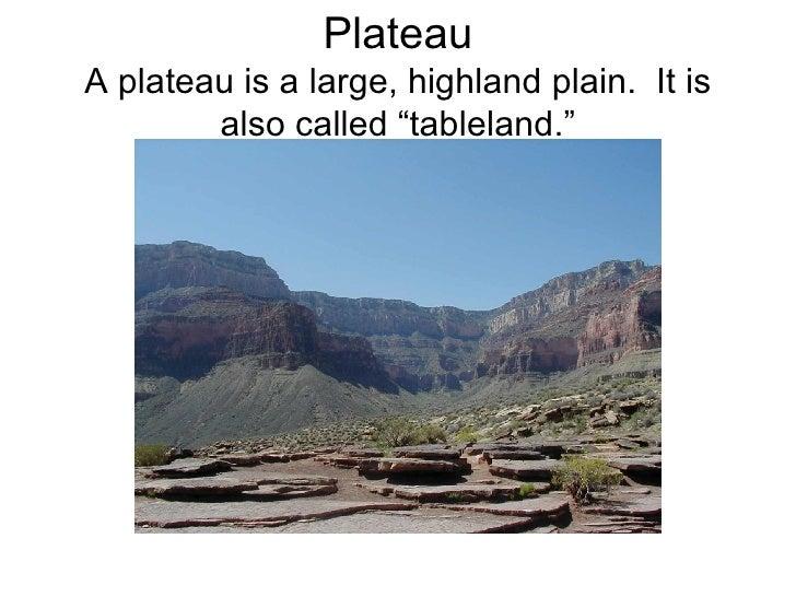 2nd grade landform ramel - Definition d un plateau ...