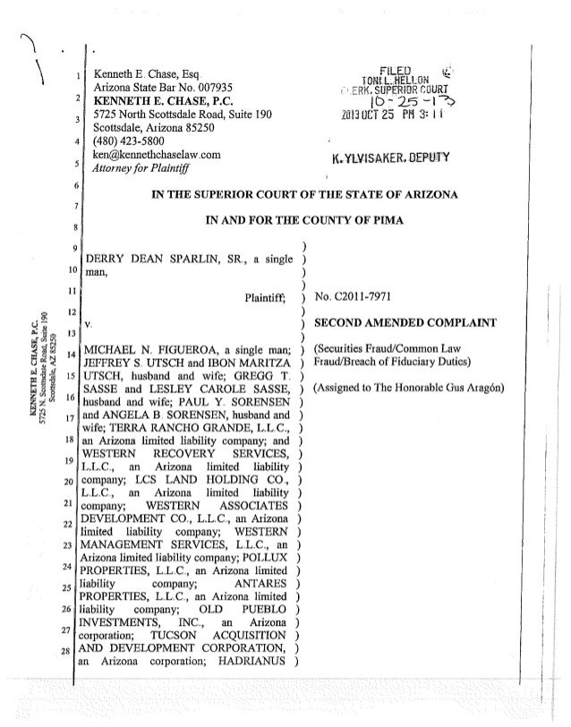 2nd Amended Sparlin Complaint