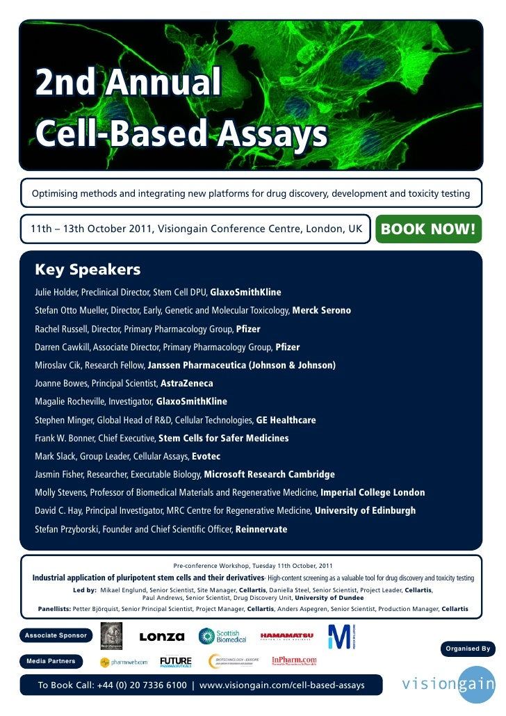 2nd Annual  Cell-Based Assays Optimising methods and integrating new platforms for drug discovery, development and toxicit...