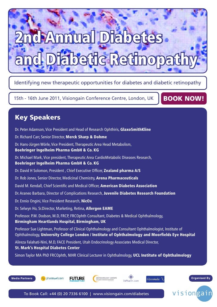 2nd Annual Diabetes  and Diabetic Retinopathy Identifying new therapeutic opportunities for diabetes and diabetic retinopa...