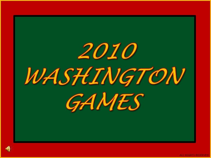 2010<br />WASHINGTON GAMES<br /> 2010<br />WASHINGTON<br />GAMES<br />HOSTED AT <br />RIVER VALEY BMX<br />PRESENTED BY <b...