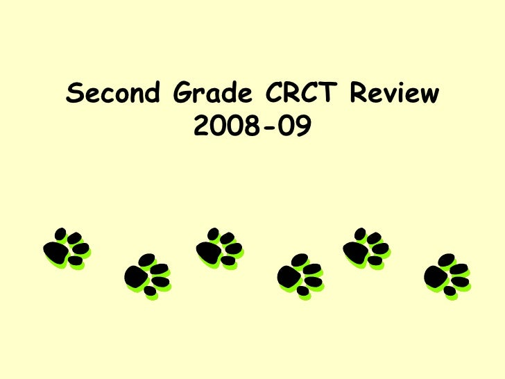 Second Grade CRCT Review 2008-09