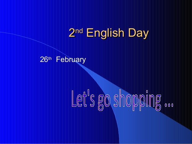 2nd English Day26th February