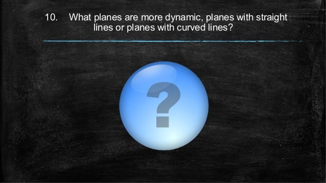 10. What planes are more dynamic, planes with straight lines or planes with curved lines?
