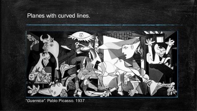 """Planes with curved lines. """"Guernica"""". Pablo Picasso. 1937"""