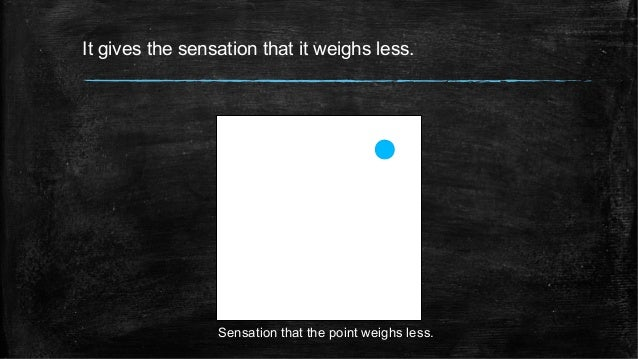 It gives the sensation that it weighs less. Sensation that the point weighs less.