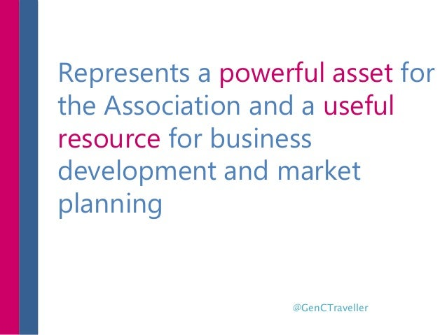 Represents a powerful asset for the Association and a useful resource for business development and market planning @GenCTr...