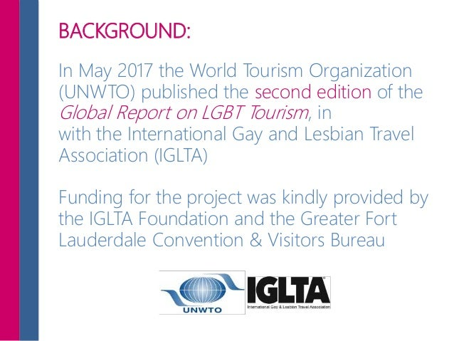BACKGROUND: In May 2017 the World Tourism Organization (UNWTO) published the second edition of the Global Report on LGBT T...
