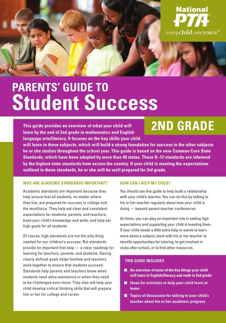 PARENTS' GUIDE TOStudent Success This guide provides an overview of what your child will learn by the end of 2nd grade in ...
