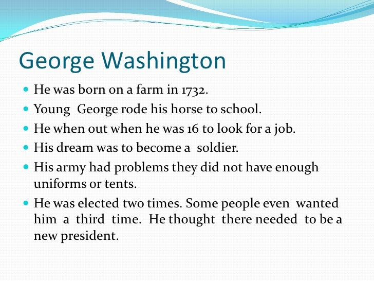 school research papers on george washington