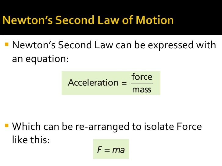 2nd Law of Motion