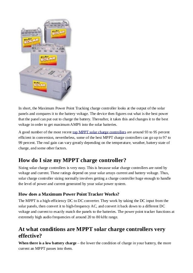 What is MPPT Solar Charge Controller?