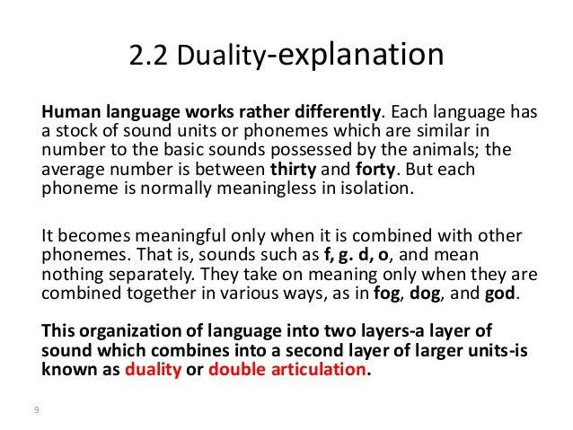properties of language in linguistics pdf