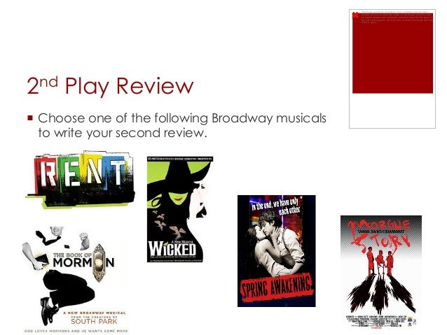 Writing a Play Review