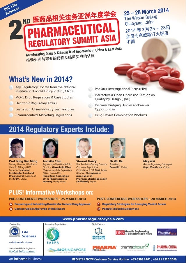 14  25 – 28 March 20 g The Westin Beijin Chaoyang, China  East Asia provals in China & ug & Clinical Trial Ap Accelerating...
