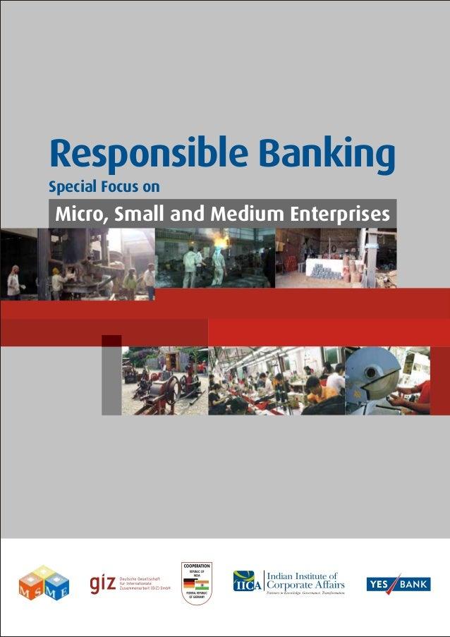 Responsible BankingSpecial Focus onMicro, Small and Medium Enterprises