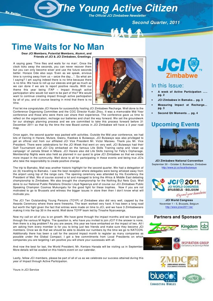 The Young Active Citizen                                                            The Official JCI Zimbabwe Newsletter  ...