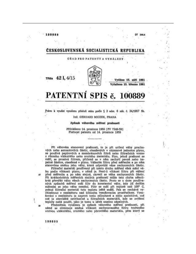 československá socIALISTICKÁ REPUBLIKA maa 421,4/15 vydáno 15. září 1961 , Vyloženo 15. března 1961 PATENTNÍ SPIS č. 10088...