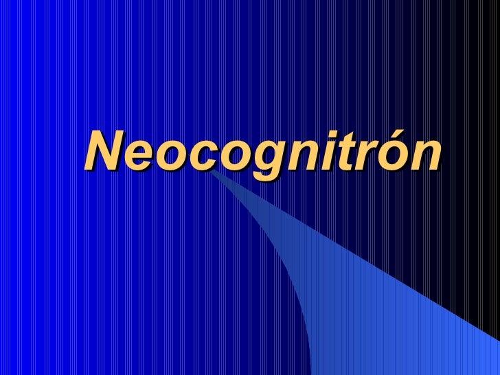 Neocognitrón