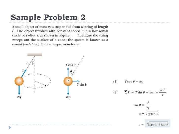 (2) newton's law in circular motion