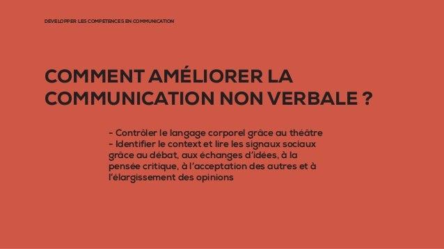 DÉVELOPPER LES COMPÉTENCES EN COMMUNICATION COMMENT AMÉLIORER LA COMMUNICATION NON VERBALE ? - Contrôler le langage corpor...
