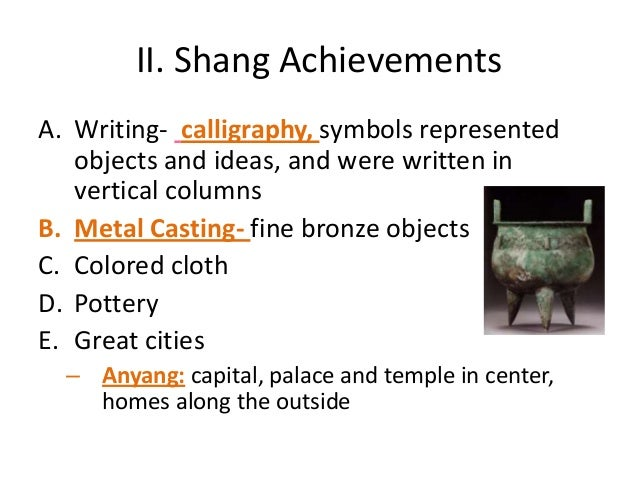 10 Major Achievements of Shang Dynasty of China