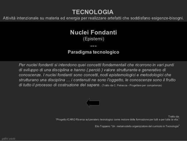 TECNOLOGIA Attività intenzionale su materia ed energia per realizzare artefatti che soddisfano esigenze-bisogni.          ...