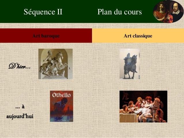 Séquence II Plan du cours  Art baroque  Art classique  D'hier…  … à aujourd'hui