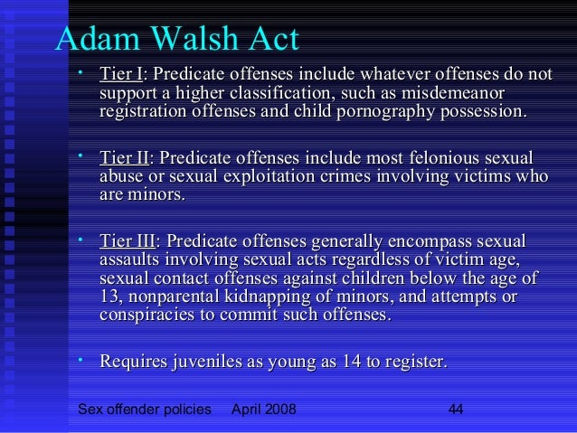 Walsh act sex offender