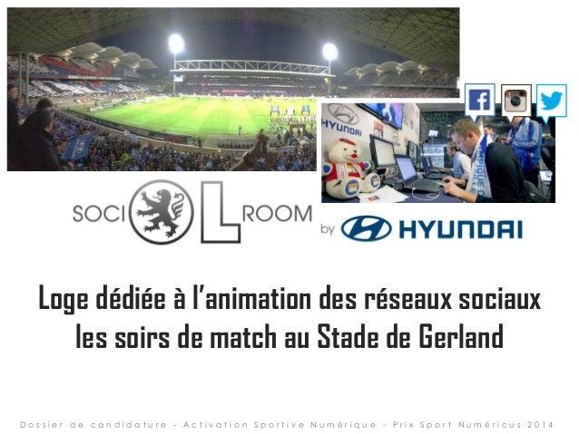 Loge dédiée à l'animation des réseaux sociaux les soirs de match au Stade de Gerland D o s s i e r d e c a n d i d a t u r...