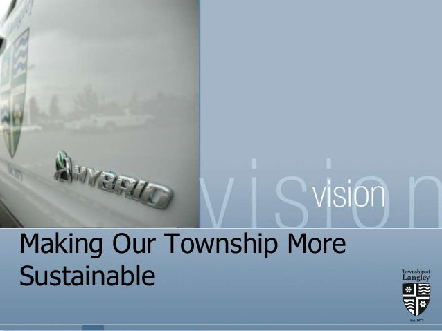 Making Our Township More Sustainable