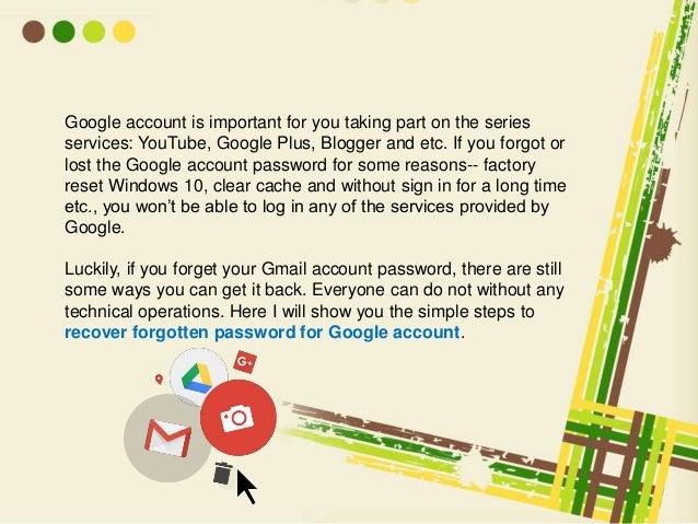 google password recovery options