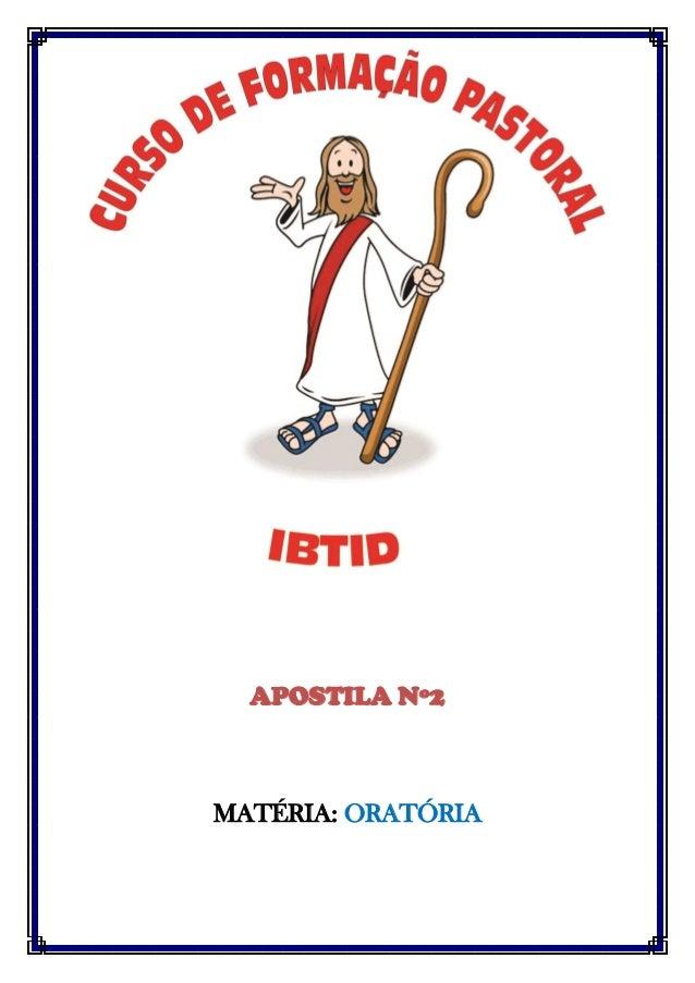 APOSTILA Nº2  MATÉRIA: ORATÓRIA